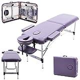 Massage Imperial - tragbare Massageliege Knightsbridge - Leicht Aluminium 10 kg - 5 cm - Violett