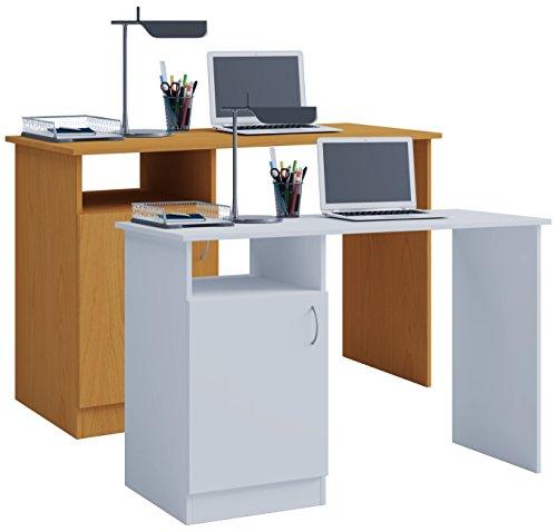 VCM Desas Computertisch, Holzstruktur, Buche, Einheitsgröße