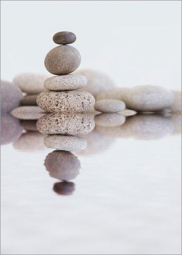 Posterlounge Lienzo 30 x 40 cm: Zen Stones Andrea