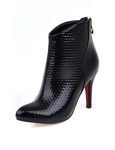 CU@EY Da donna-Stivaletti-Formale / Casual-Comoda / Stivali-A stiletto-PU (Poliuretano)-Nero / Rosso black-us6 / eu36 / uk4 / cn36