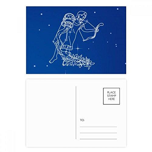 DIYthinker Star Universe Wassermann Konstellationsbitmuster Postkartenset Geburtstag dankt Karte Mailing Side 20pcs 5.7 Zoll x 3.8 Zoll Mehrfarbig - Karte Wassermann Geburtstag