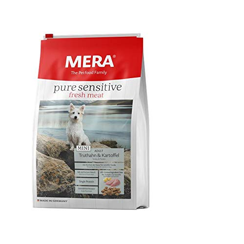MERA Dog Pure Sens. Fresh Meat Mini Truthahn & Kartoffel | 1kg Hundefutter