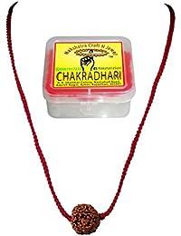 CHAKRADHARI 100% Original Five Face Nepal Rudraksha Pendant for Unisex Wearing in High Quality