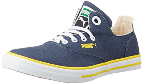 Puma Unisex Limnos CAT 3 DP Dark Denim and Dandelion Canvas Sneakers - 9 UK