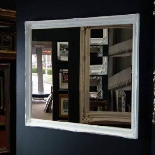 Frames by Post Espejo de Pared Grande con Marco Blanco de 102 x 71 cm, Estilo Elegante y Vintage