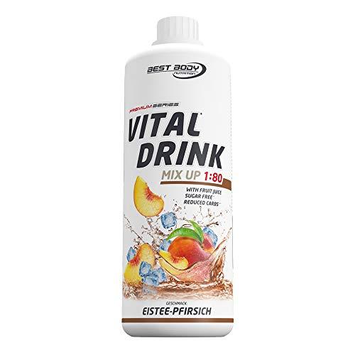 Best Body Nutrition Vital Drink Eistee-Pfirsich, Getränkekonzentrat, 1000 ml Flasche