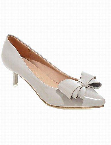 WSS 2016 Chaussures Femme-Bureau & Travail / Habillé / Décontracté / Soirée & Evénement-Noir / Rose / Rouge / Gris-Talon Aiguille-Talons / Bout black-us5 / eu35 / uk3 / cn34