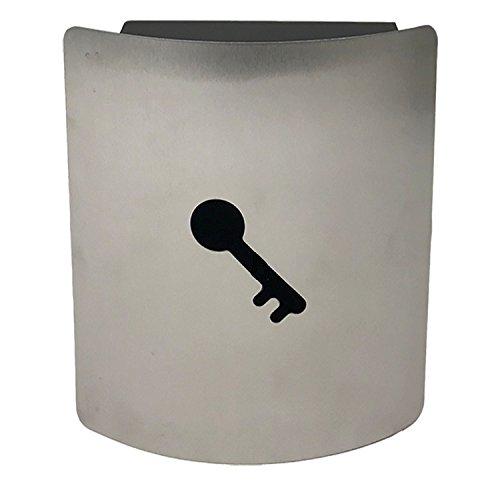 Schlüsselschrank L21xB6xH25cm Edelstahl Schlüsselkasten mit Magnet Schlüsselleiste mit 9 Haken