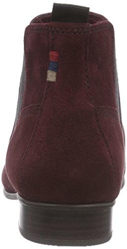 Tamaris 25353, Bottes Chelsea courtes, doublure froide femme Rouge - Rot (Bordeaux Suede 540)