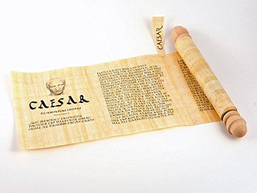 Schriftrolle aus Papyrus des römischen Feldherren Cäsar - Forum Traiani - römische Geschichte über Gaius Julius Caesar