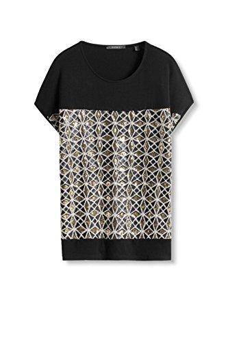 Esprit 116eo1k014, T-Shirt Femme Noir (black 001)
