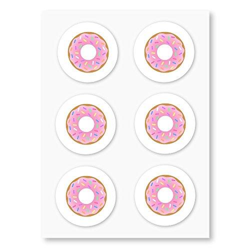r, Kreis Dichtungen, Party Favor Etiketten, Cupcake Topper, von Once Upon Supplies, 3,8cm 60Aufkleber weiß ()