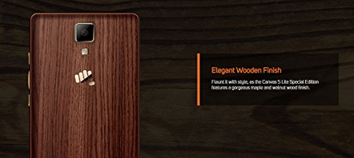 Micromax Canvas 5 Lite Q463 (Maple Wood, 16GB)