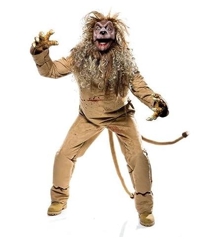 Imposantes Löwe Kostüm für Erwachsene 5teilig - Gr. L