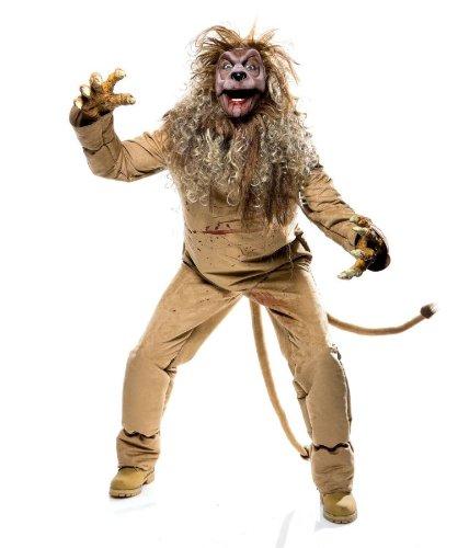 Imposantes Löwe Kostüm für Erwachsene 5teilig - Gr. L (Löwen Kostüme Für Männer)