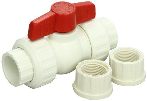 Hayward qta1007csew 3/4-Zoll weiß QTA Serie True Union PVC Compact Kugelhahn mit EPDM O-Ringe -