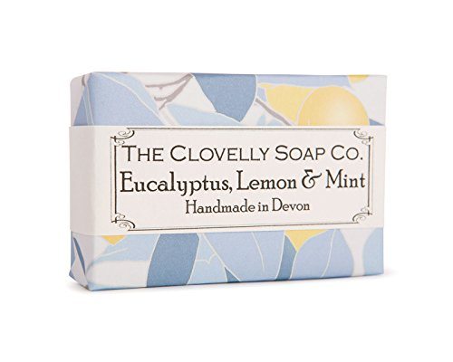 Clovelly Soap Co Natural Handmade Eucalyptus mint & lemon Soap Bar for all Skin Types 100g