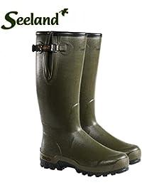 "Seeland–Estate Lady Vibram 16""botas de goma de 5mm (Verde Oscuro)–8"