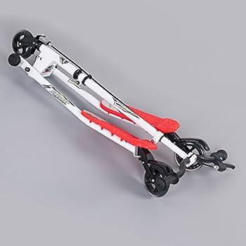 Homcom Kids 3 Wheels Foldable Speeder Push Scooter Tri Slider Red Large Type For Age 8+ … 1