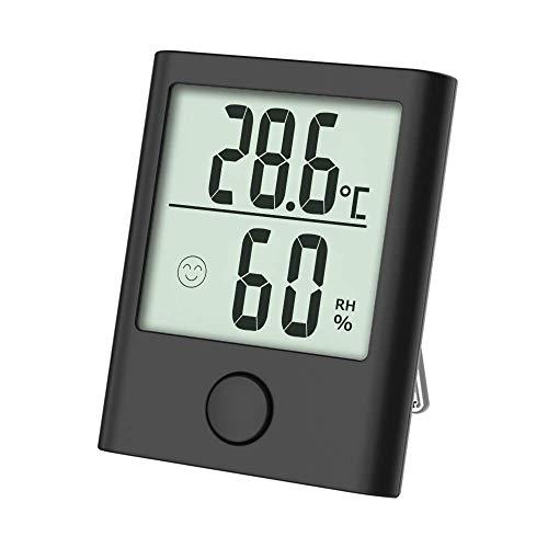 Tragbares Thermo-Hygrometer, Digital Innen/Außen Thermometer Hygrometer mit Hohe Genauigkeit, Klare Temperatur und Luftfeuchtigkeit, Komfortanzeige, Fein und Schön geeignet für Zimmers, Ausflug usw.