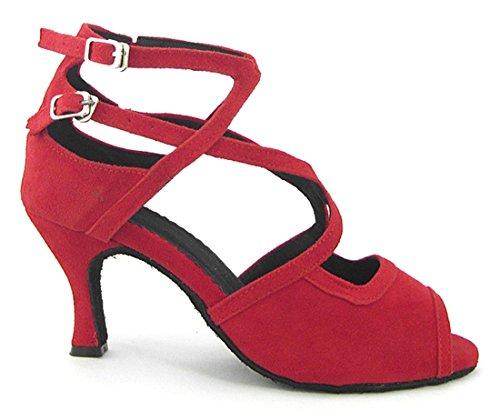 TDA - Peep-Toe donna Suede Red