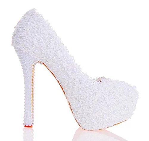 TDA , Semelle compensée femme 14cm Heel White