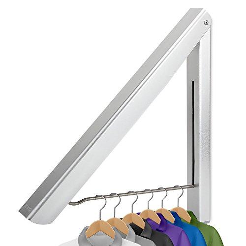 KYG Faltbar Kleiderhaken Klappbar Wand-Kleiderständer Folding Platzsparend Wetterfest Kleiderbügel, Aluminium