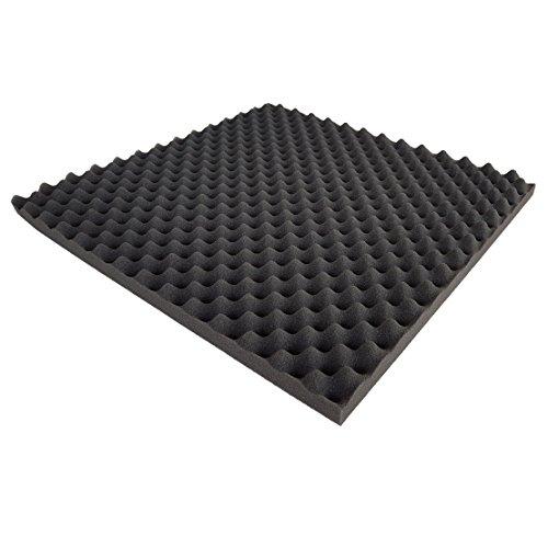 Akustikschaumstoff als Akustik Noppenschaumstoff - Platte 50x50x3cm (anth/schwarz) aus hochwertigem PUR-Schaumstoff direkt vom Hersteller