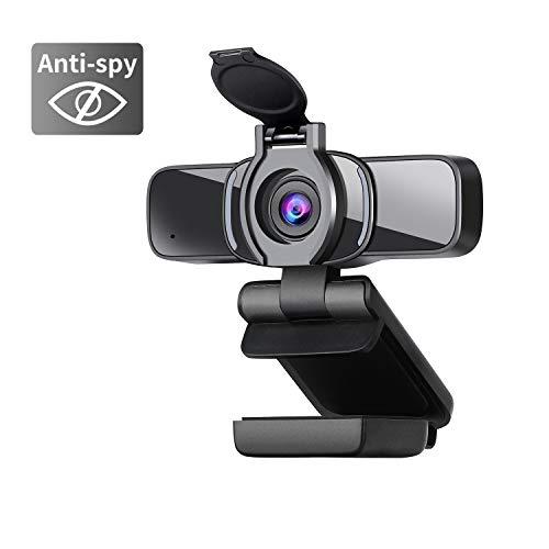 Dericam Webcam,HD Webcam mit Webcam Abdeckung,mit Mikrofon PC, Plug & Play für Desktop PC,Laptop,ideal für Konferenzen, Live Übertragungen, Gaming PC und Videoanruf