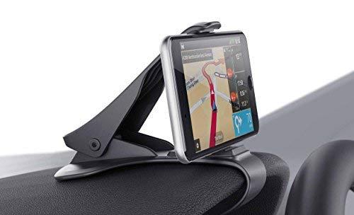 Soporte para Teléfono de Coche Montaje Móvil Universal 3.0-6.5 Pulgadas Sujeta de Pinza Fuerte al Salpicadero para Todos los Smartphones/Móviles iPhone 5/6/7/8/X y Plus Samsung Huawei Xiaomi HTC LG