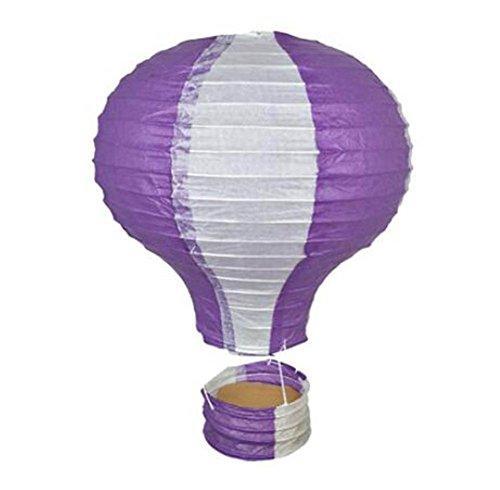 (Black Temptation Geburtstagsparty/Weihnachten/Ostern/Mall Dekoration hängen Papier Laterne Heißluftballon 25cm(lila))