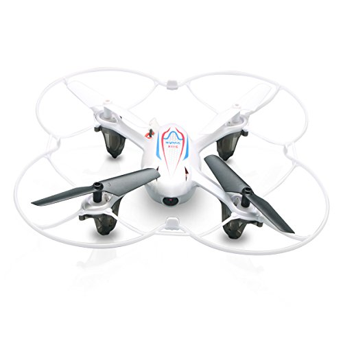 Syma X11C - RC Quadcopter Mini Drone, Air RTF (2.0 Mp Camera, 4 Channels, 2.4GHz, LED Light), White