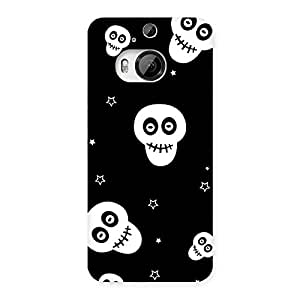 Gorgeous Skull Star Back Case Cover for HTC One M9 Plus