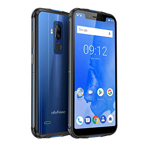 "Ulefone Armor 5 Wasserdichtes Outdoor Smarphone ohne Vertrag (5.85"" 18:9 HD+ Notch Screen, 4G Dual-SIM, 4GB RAM, 64GB Interner Speicher, Dual-Hinterkamera, Android 8,1 Oreo, 5000mAh Akku, NFC) Blau"