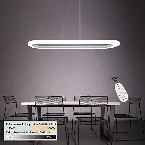 Lámpara Colgante de Techo de Oficina, LED 40W Iluminación Interior Luz Pendiente Control Remoto de ALtura y Brillo Ajustable(3500-6500K) con Panel de Acrílica para Mesa,Comedor,Estudio,Sala,Empresa