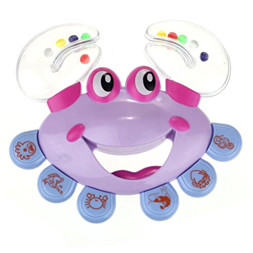 WINWINTOM Kinder Baby Krabbe Design Glöckchen Rassel Spielzeug Musikinstrument Jingle (B)