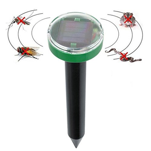 Binggong 1 Pc Solar Ultraschall Schlange Maus Repellenten Pest Nagetier Repeller Ablehnen Outdoor Solar Repeller Gärten Bauernhof Obstgarten (260mm*70mm, Schwarz)