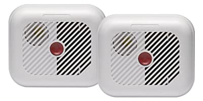 Ei Electronics Smoke Alarm and Test Button with Batteries - Twin Pack