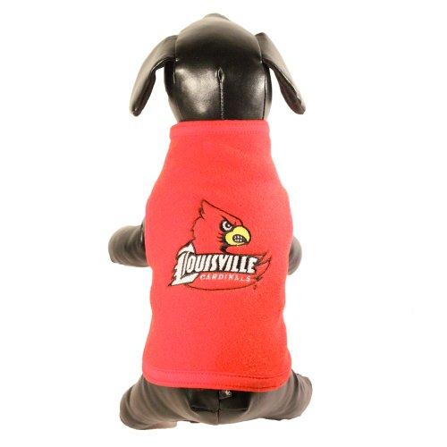 All Star Dogs NCAA Louisville Cardinals Hunde-Sweatshirt aus Polarfleece, Unisex-Erwachsene, rot, XX-Small - Global Ärmelloses Shirt