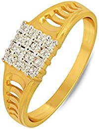P.N.Gadgil Jewellers Lavanya Collection 22k (916) Yellow Gold Ring - B01M7P9T8A