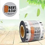 HONFAM Cup Sealer Film Bubble Boba Thé d'étanchéité Rouleau de 3000pcs pour Coupe en Plastique