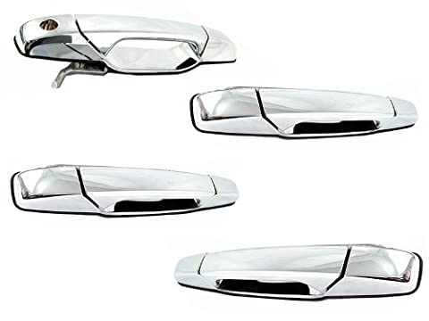 Chevy Tahoe Gmc Yukon Sierra Denali Xl 07 - 13 Front Rear Chrome Door Handle Set by Auto Parts