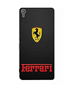 Case Cover Car Printed Black Hard Back Cover For Sony Xperia XA Dual