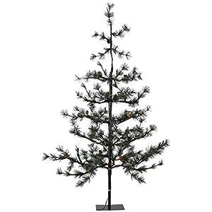 Gartenpirat Künstlicher Weihnachtsbaum Pinie 120 cm mit Beleuchtung 70 LED Deko