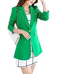 Aisuper - Chaqueta de traje - Manga Larga - para mujer