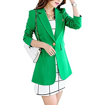 Aisuper - Giacca da abito - Maniche lunghe  -  donna Green M