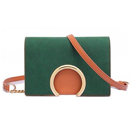 Wu Zhi Ladies Scrub Bag Shoulder Bag Messenger Bag Piccola Borsa Quadrata Borsa Verde