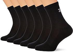 Under Armour Ua Charged Cotton 2.0 Crew 6 Lı Çorap Erkek Spor Giyim, Siyah (Black / / Stealth Gray 1312462001)