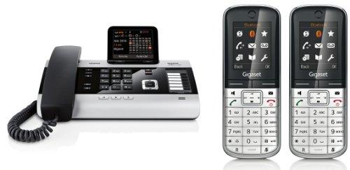 Siemens Gigaset DX600A DUO SET mit 2x SL400H Mobilteil – ISDN, Anrufbeantworter, Bluetooth® ECO DECT, schwarz