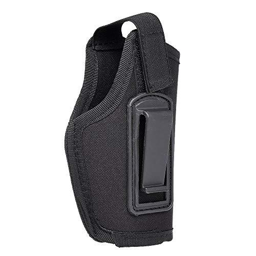 Lzdingli Outdoor-Sportgeräte Tragbare leichte Tasche für Jagdausrüstung Rechts und Links Universal 6,1-Zoll-verdeckte Tragetasche mit Clip Perfekt für Reisen (Color : Schwarz) -
